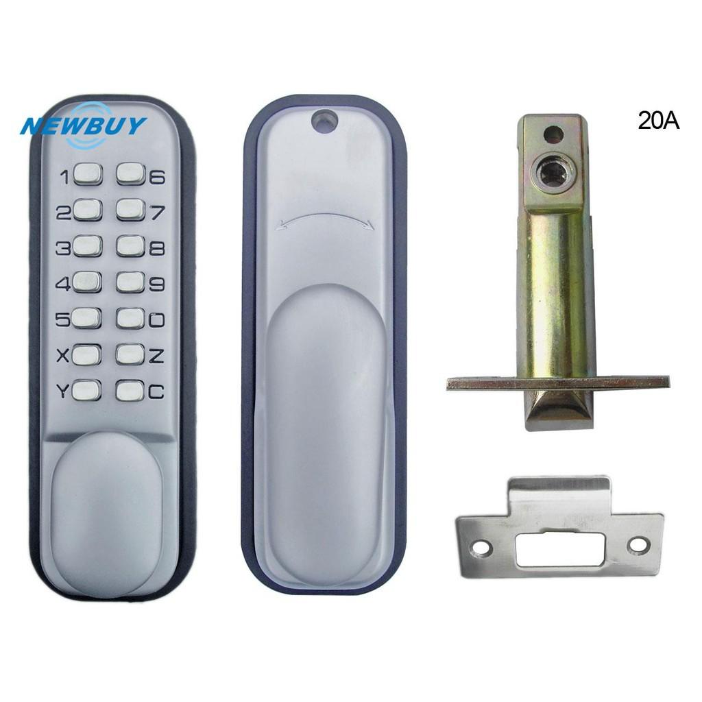 Mechanical Lockey Keyless Digital Deadbolt Doors Lock Coded Lock with Handle New