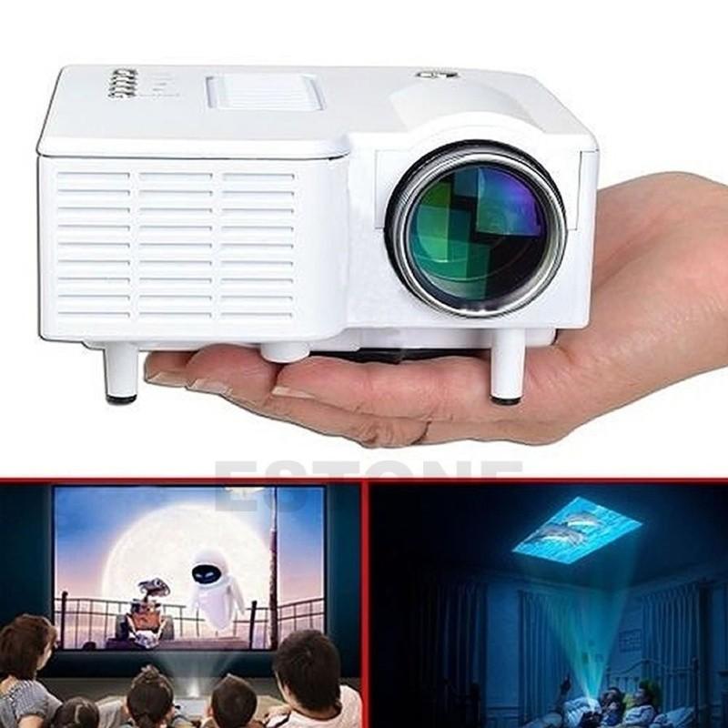 Mini Projector 1080P HD Multimedia LED TV VGA HDMI USB for Home Theater Cinema