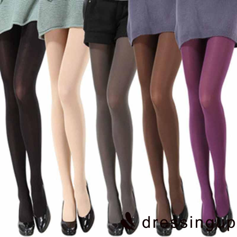 SP.-New Fashion Slim 8 Colors Women Spring Autumn Footed Thick Opaque Stockings