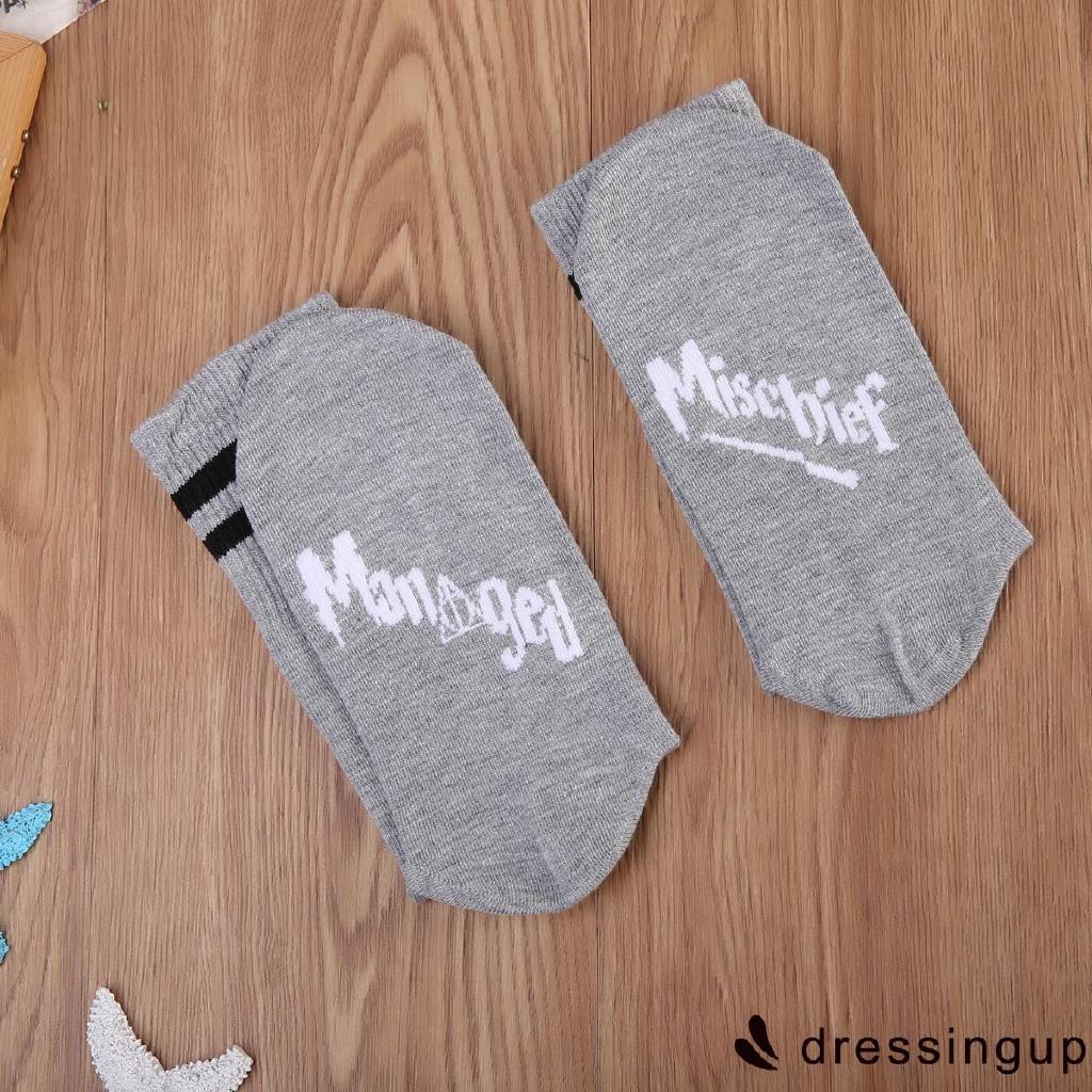 DGG-1 pair Hot Women Men Comfortable Cotton Letter Printed Socks General Adult