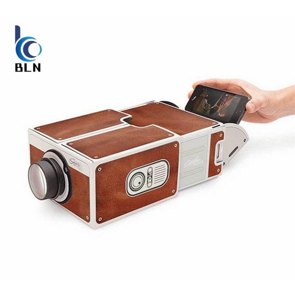 【BLN-Tech】Smartphone Projector DIY Cardboard Mobile Phone Projector Portable Cinema