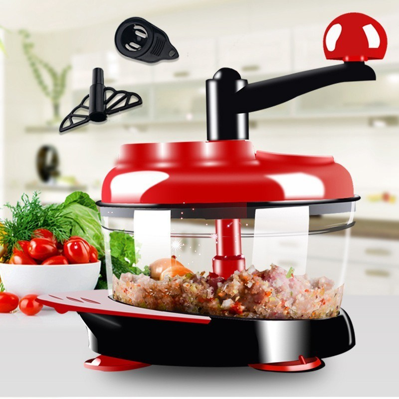 Manual Meat Grinders Vegetable Chopper Egg Beater Food Mixer Blender Shredder