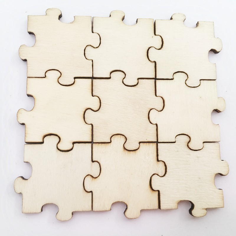 50Pcs Diy Craft Wooden Jigsaw Puzzles For Children Craft And Scrapbooking
