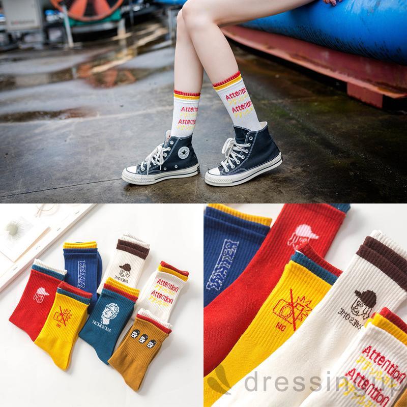 d❃♪Female Korean Version Ins Cute Wild Tide Tube Socks