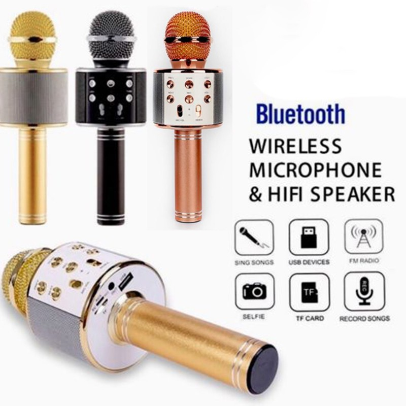 LDF❤Mini Wireless KTV Karaoke Mic Microphone Bluetooth MP3 Speaker