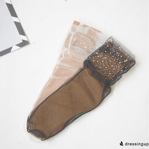 Women's Transparent Glitter Ankle Socks - GSP