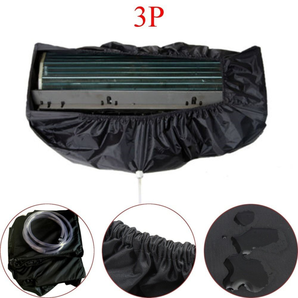 Air Conditioner Dust Washing Waterproof Cover Clean Protector + 2.5m Water Pipes