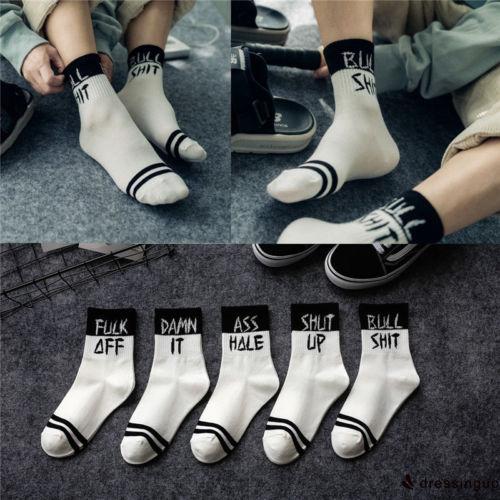GDE-Striped Spring Autumn Warm Socks Unisex Male Fashion Casual Cotton Long