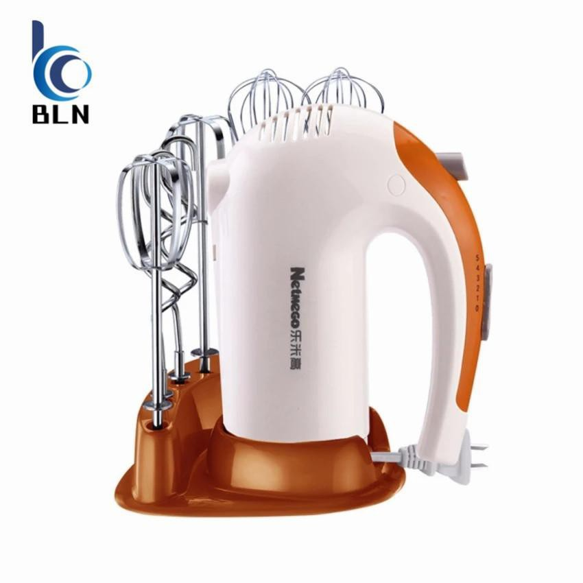 Handheld electric food prepared Mixers With storage base (White)