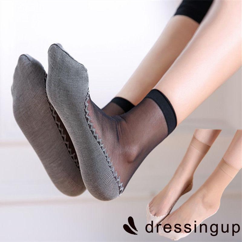 Women's Ultra Thin Elastic Ankle Low Cut Socks - SER-1